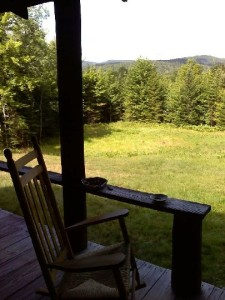 The view from the Nest's back porch.